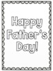 Father's Day Writing Activities for Kindergarten, 1st, and 2nd Grade