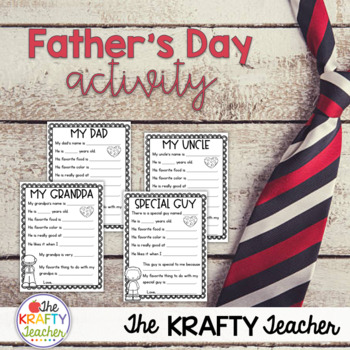 Father's Day Writing Activity *June* No Prep