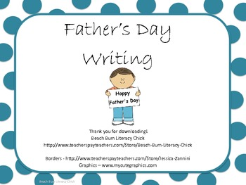 Father's Day Writing Assignment