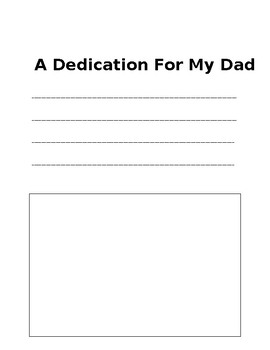 Father's Day Writing Booklet
