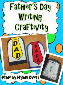 Father's Day Writing Craftivity (English & Spanish)