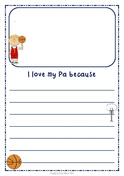 Father's Day Writing Frames - Basketball