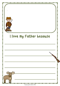 Father's Day Writing Frames - Hunting