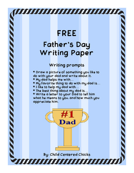 FREE Father's Day Writing Paper