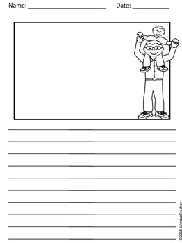 Father's Day Writing Paper Pack for Elementary