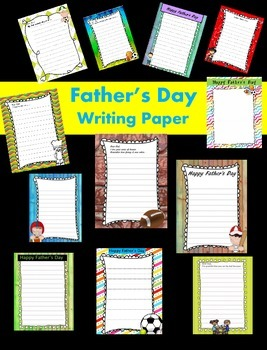 Father's Day Writing Papers - Personal & Commercial use