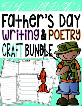 Father's Day Writing, Poetry, Craft Gift Book Bundle Pack