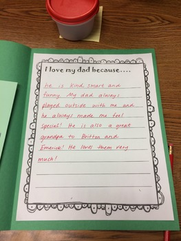 Father's Day Writing Project