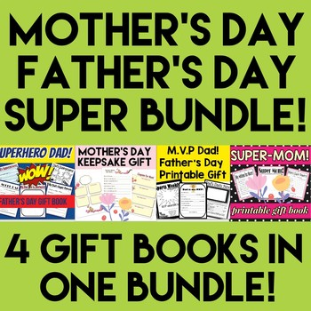 Father's Day and Mother's Day Gift Book Bundle - Grades K-3 - Amazing GIFTS!