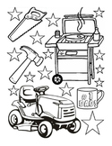 Fathers Day coloring sheet fine motor skills fun-stuff art worksheet 1page