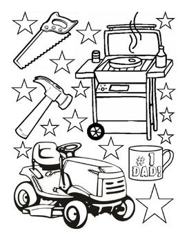 Fathers Day coloring sheet fine motor skills fun-stuff art worksheet 1page