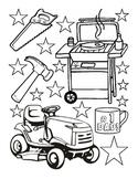 Fathers Day coloring sheet fine motor skills fun-stuff art