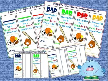 Free Father's Day-Special Person Bookmarks GIFT - I Can Count on My Dad