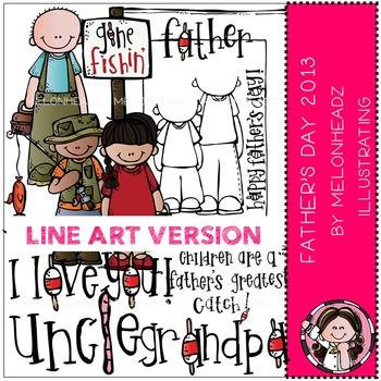 Melonheadz: Father's day clip art - 2013 - LINE ART