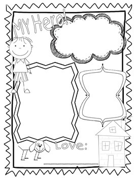 Fathers day craft and poster activity
