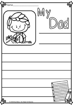 Fathers day writing