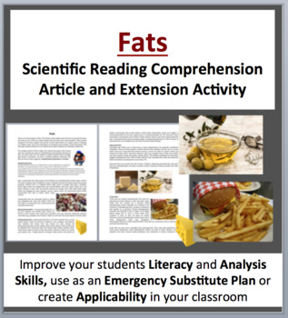 Fats - Science Reading Article