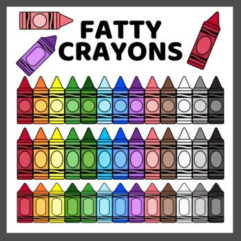Fatty Crayons Clip Art (High Resolution)