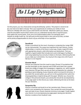 Faulkner's As I Lay Dying Final Project, High School ELA
