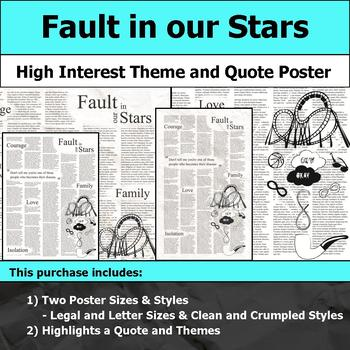Fault in our Stars - Visual Theme and Quote Poster for Bulletin Boards