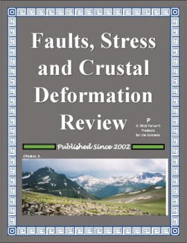 Faults, Stress, and Crustal Deformation Review Worksheet for Earth Science