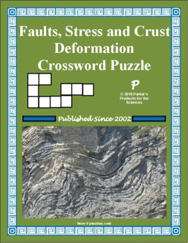 Faults, Stresses, and Deformations of Earth's Crust Crossword Puzzle