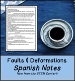 Faults and Deformation Science Notes in Spanish & English