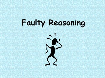 Faulty Reasoning Learning Center Teacher Supplemental Resources Fun Engaging