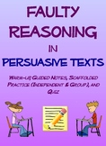 Faulty Reasoning in Persuasive Texts