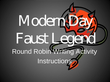 Faust Legend Creative Writing