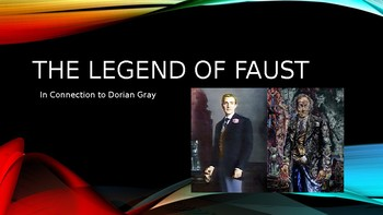 Faust and The Picture of Dorian Gray