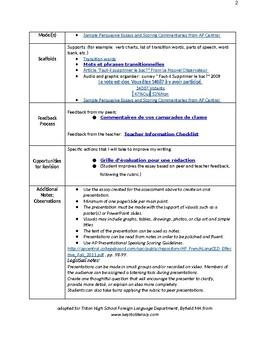 Faut-il supprimer le bac? Ap Persuasive Essay + grille d'evaluation