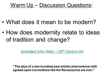 Modern Art Discussion Questions