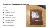 How to Create a Faux Leather Journal...Step by Step