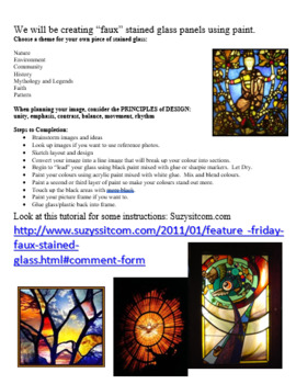 Faux Stained Glass Painting on Transparencies
