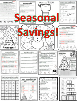 20 Christmas Activities 3rd Math Christmas Language Arts 3rd Christmas 3rd ELA