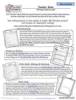 Favorite Animal: Expository Writing Activity {Character Factory}