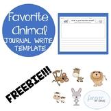 Favorite Animal Journal Write Template