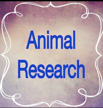 Favorite Animal Research Project
