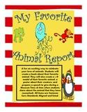 Favorite Animal Research Report (Common Core Aligned)