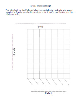 Favorite Animal Tally and Bar Graph Practice Activity