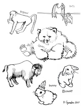 Favorite Animals 2017 Coloring Booklet