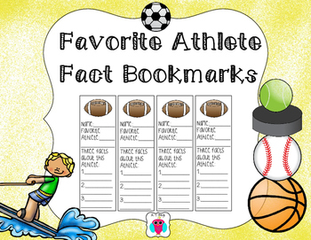 Favorite Athlete Bookmarks