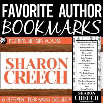 Favorite Author Bookmarks | Sharon Creech