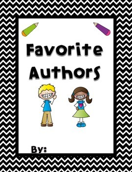 Favorite Authors - Author Study Reflection Book