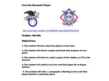 Favorite Baseball Player - Link to Your Favorite Team/Player