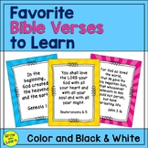 Favorite Bible Verses To Learn