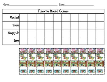 Favorite Board Games Tally & Picture Graph