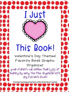 Favorite Book Graphic Organizer Valentine's Day Themed FREE