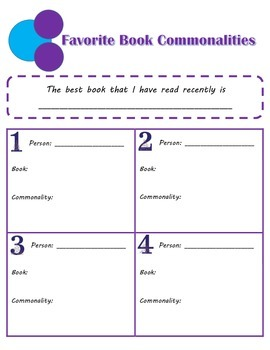 Favorite Book Grouping Activity